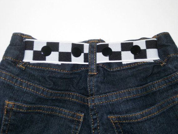 ELASTIC SNAP BELT Toddler Baby Children Checker by SweetSparrowDesign