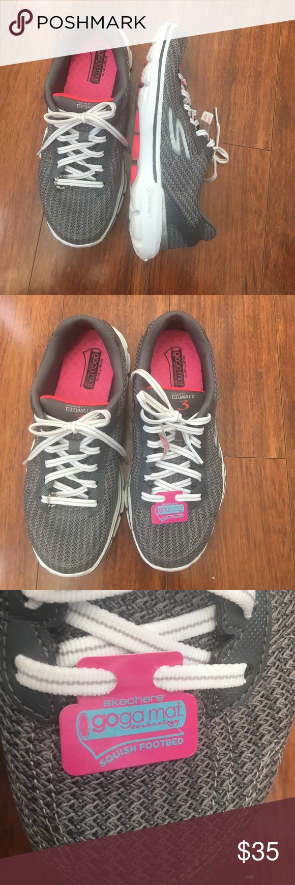 Memory  foam Skechers sneakers very comfy Memory  foam Skechers sneakers very comfy like new I only wore it couple of time  a little tight since I wear size 61/2 other wise in an excellent condition Skechers Shoes Sneakers