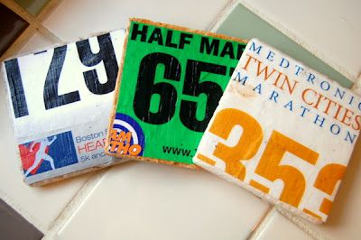 race bib coasters... motivation to keep running!: Crafts Ideas, Gifts Ideas, Racing Bibs, Awesome Ideas, Cool Ideas, Race Bibs, Bibs Coasters, Mommy Monologues, Diy Projects