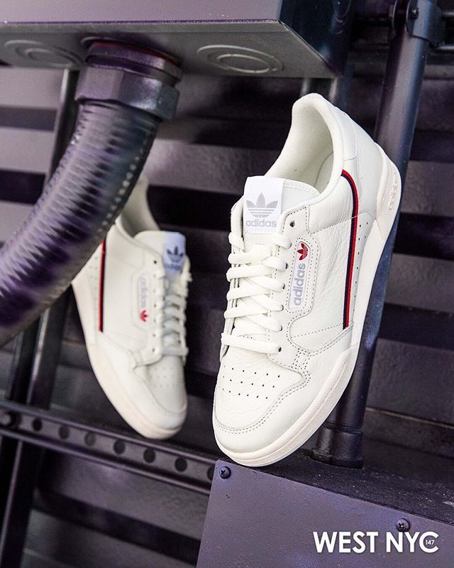online retailer fb655 2f6f0 The Continental 80 shoes capture the retro look of  80s tennis style. These  low-top leather sneakers show off a swooping two-tone stripe on the side  and a ...