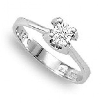 Μονόπετρο 18Κ δεμένο με Διαμάντι 0,50 carats H009