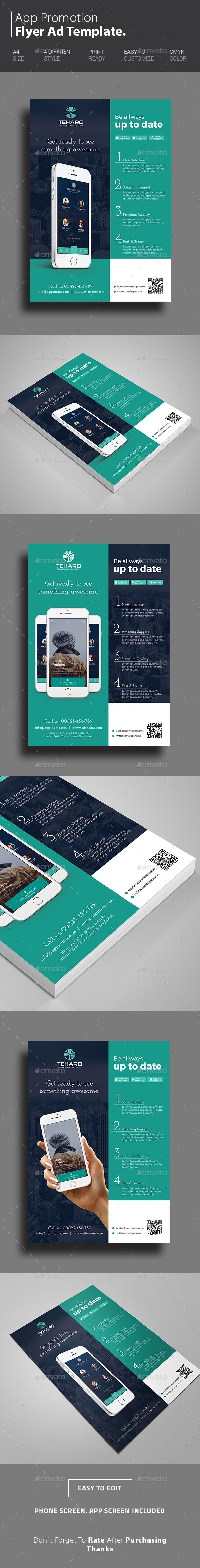 App Promotional Flyer Template PSD. Download here: http://graphicriver.net/item/app-promotional-flyer/14779975?ref=ksioks