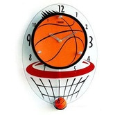 Found it at Wayfair - Basketball Hood Wall Clock