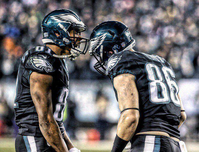 Philadelphia Eagles Jordan Matthews and Zack Ertz #flyeaglesfly