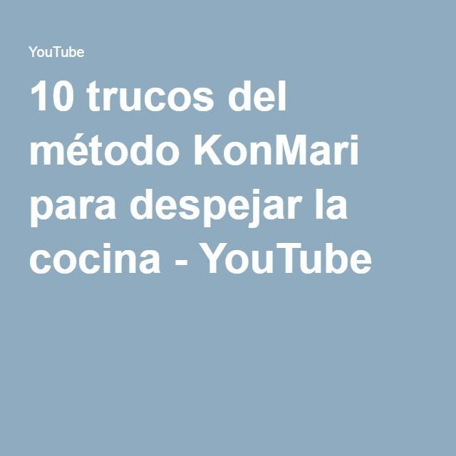 10 trucos del m todo konmari para despejar la cocina for Youtube cocina para todos
