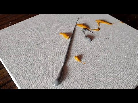 Easy Abstract Painting / Acrylic Paints and Trowel / Satisfactory Demonstration / Project 365 days / Day No. 0204 – YouTube