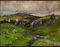 Village the Faroe Islands by Samuel Joensen Mikines