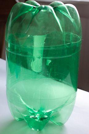 soda bottle hat stand