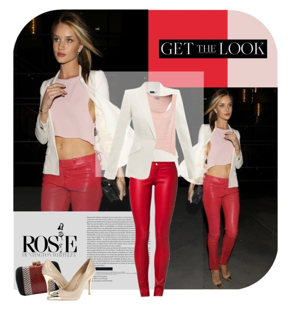 """""""Get the Look Rosie Huntington"""" by magdafunk ❤ liked on Polyvore"""