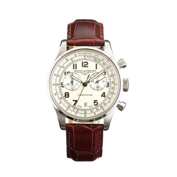 J.Crew Gift Guide: men's Mougin & Piquard™ chronovintage watch.