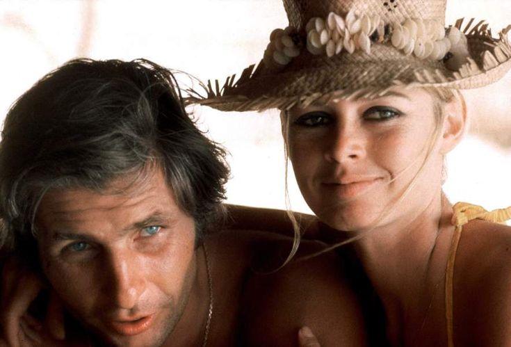 Une lune de miel au soleil de Tahiti avec son troisième mari, l'homme d'affaires Gunther Sachs en 1966