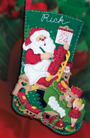 Santa's Toys bucilla stocking kit, MerryStockings exclusive