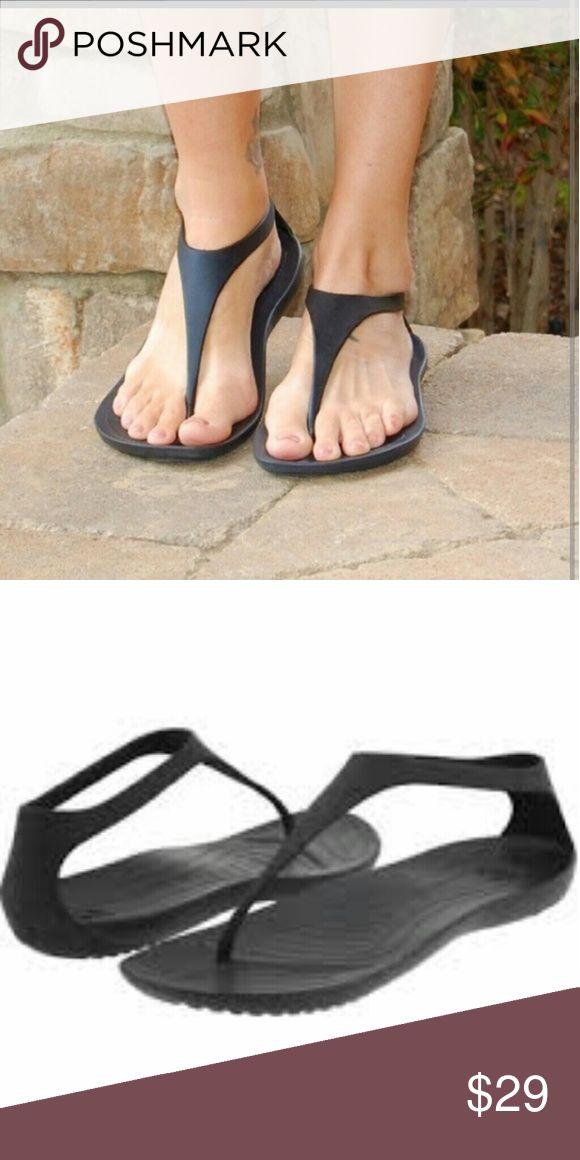 New Crocs thong sandals Black crocs Shoes Sandals