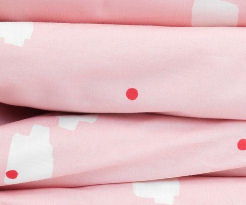 Junior dekbed overtrek lommer roze, Tas-ka