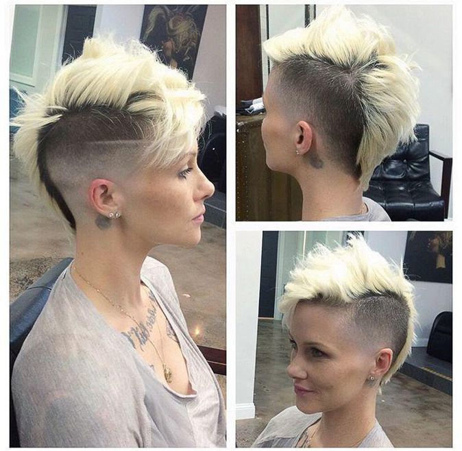 #hairdare #mohawk #womenshair #fade #ladyfade