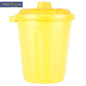 Yellow Plastic Tub with Lid
