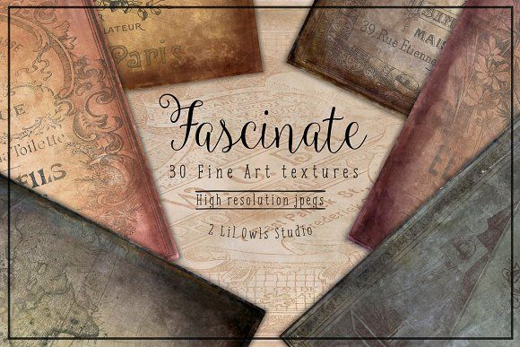 Fascinate Fine Art Textures by 2 Lil Owls Studio on @creativemarket