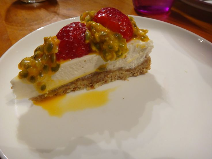 """Paleo Lemon Cheesecake  No one complained it was """"healthy"""" as it was just too delicious!  Receipe found at """"The 4 blades.com"""" in the dessert issue"""