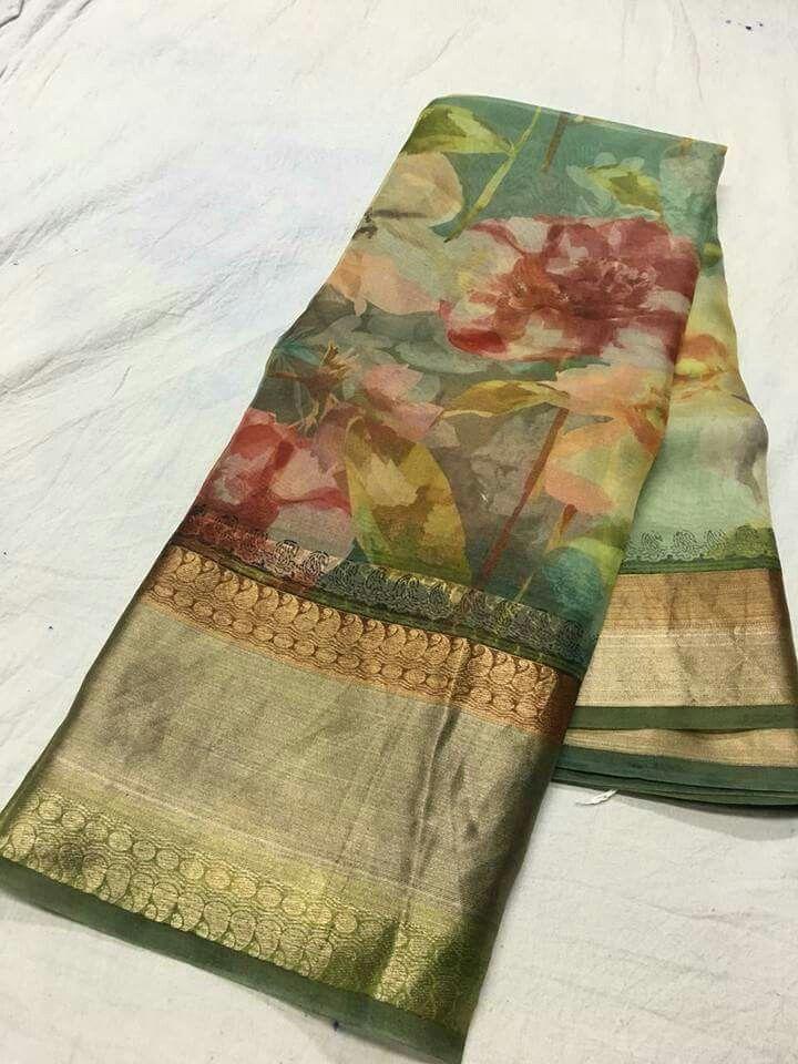 4b7b83ec4f Pure organza digital print sarees Price:5500 Order what's app 7995736811
