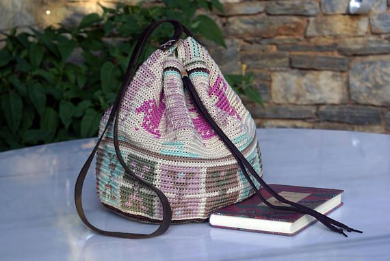 Mochila Wayuu Bag Wayuu Way Crochet Bag Large Handbag