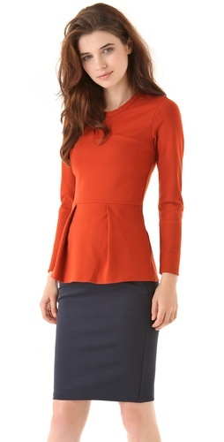 Flattering Peplum top from Phillip Lim