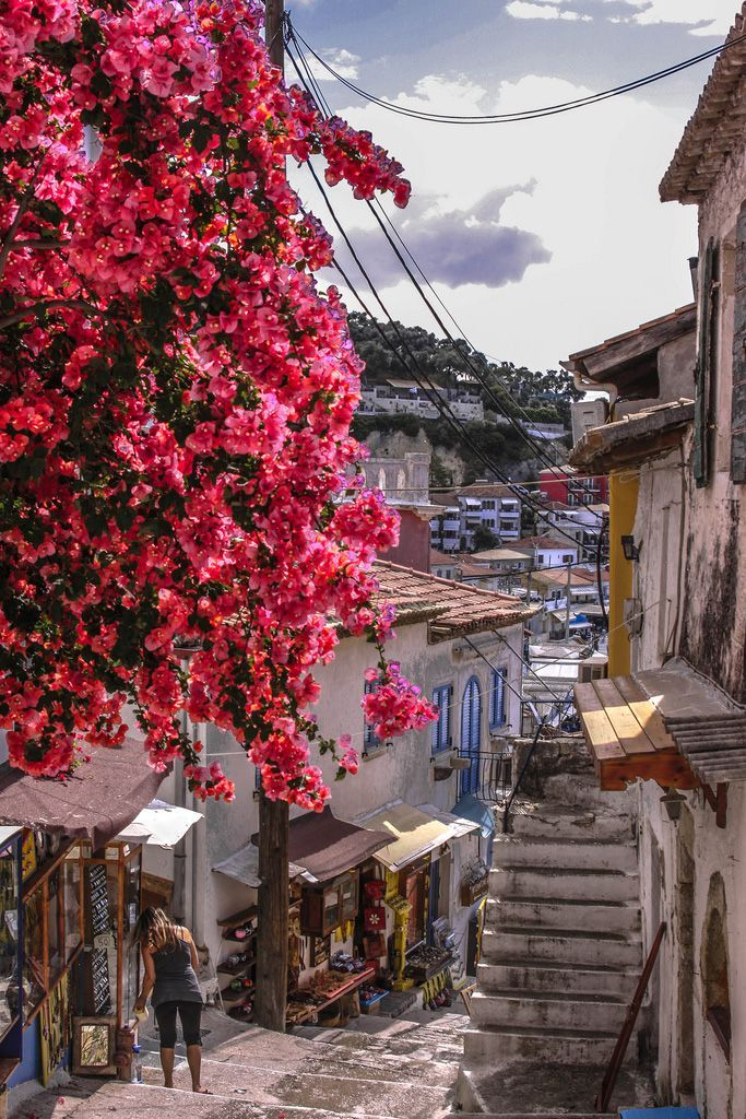 Greece Travel Inspiration - Street in Parga, Greece