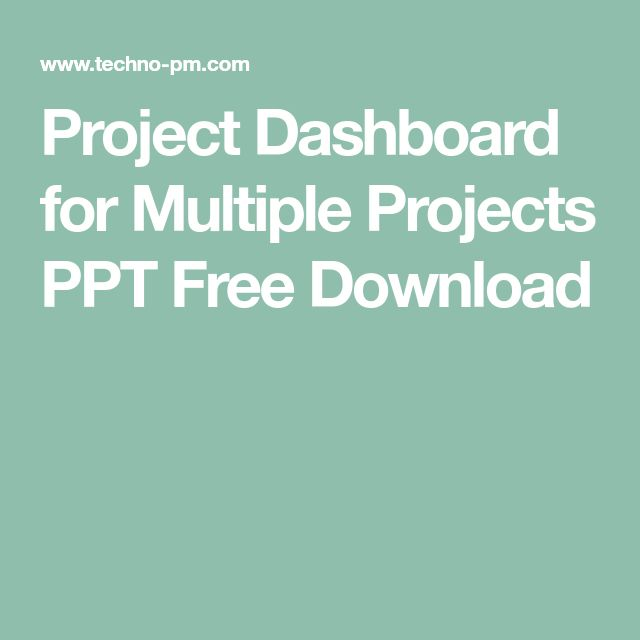Project Dashboard for Multiple Projects PPT Free Download