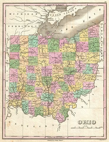 1827 map of Ohio by Anthony Finley.  http://blogs.ancestry.com/ancestry/2014/03/13/ancestors-in-the-buckeye-state-ohio-research-guide/?utm_source=feedly&utm_reader=feedly&utm_medium=rss&utm_campaign=ancestors-in-the-buckeye-state-ohio-research-guide