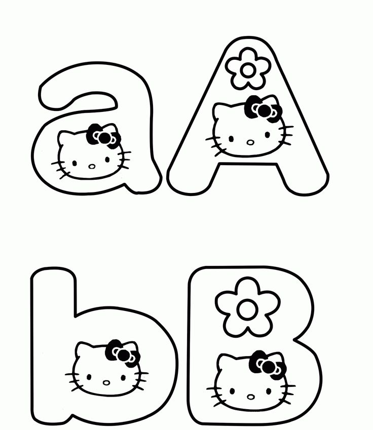 Download And Print Hello Kitty Alphabet Coloring Pages