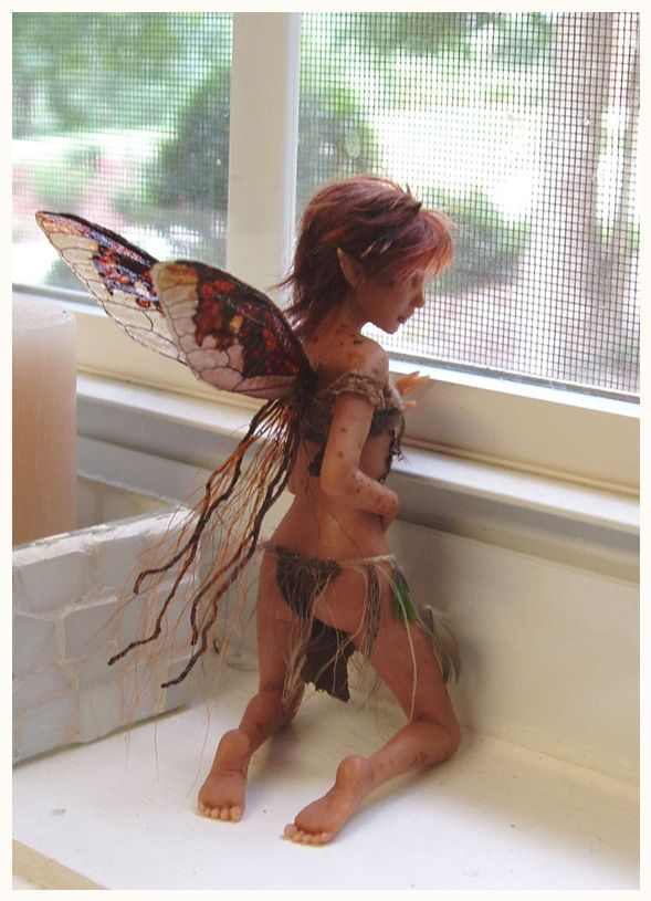 The Captive FAERIE SCULPTURE by pixiwillow.deviantart.com on @deviantART