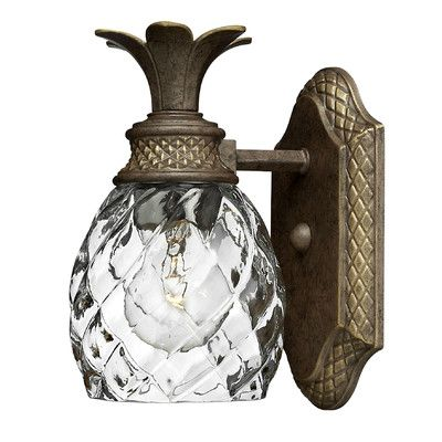 "Features:  -Pineapple accent.  -Springcreek collection.  Product Type: -Armed Sconces.  Style: -Traditional/Tropical.  Fixture Material: -Metal. Dimensions:  Overall Height - Top to Bottom: -8.75"".  O"