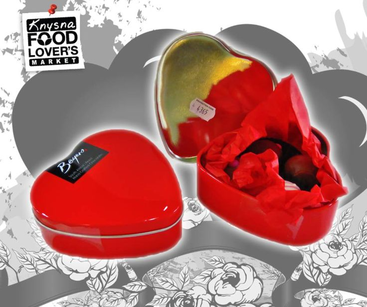 This vibrant red heart filled with delectable Beyers chocolate truffles is the perfect #valentinesday gift. Available at #FLM #Knysna