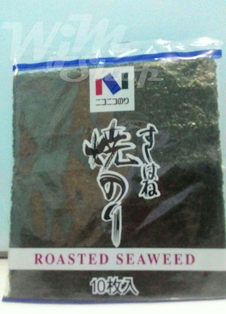 Nori Yaki Sushi Hane Nori Yaki Sushi Hane isi nori: @10 lembar Komposisi: Rumput laut kering Exp: 08 - 08 -2016 BPOM RI ML 2192 0902 2008