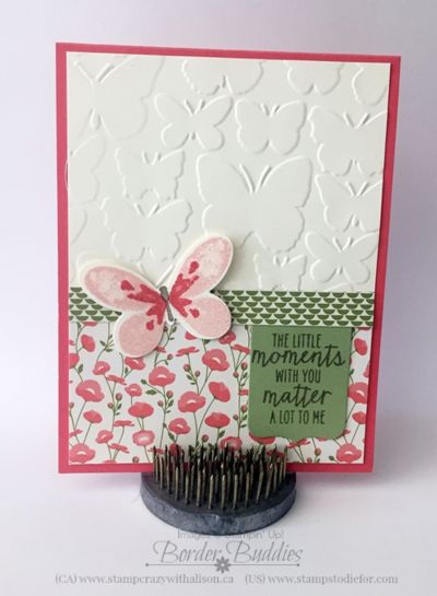 Pretty petals designer series paper stack and watercolor  wings www.stampstodiefor.com #stampinup #watercolorwings