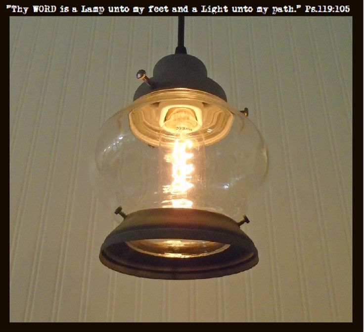 Clear Vintage PORCH Light Pendant with Edison Bulb in Verde Faux Green