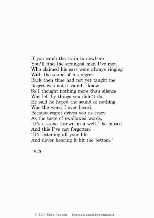 Regret. thepoeticunderground.com #poem #poetry