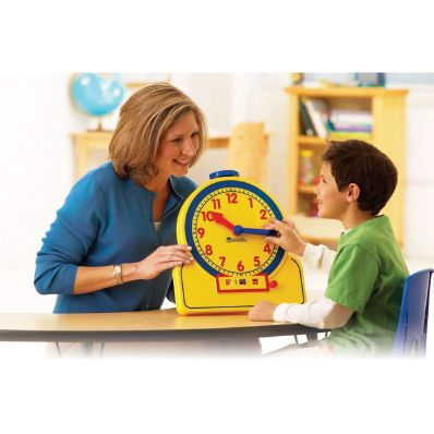 Primary Time Teacher Learning Clock, Demonstration Learning Clock - ETA hand2mind