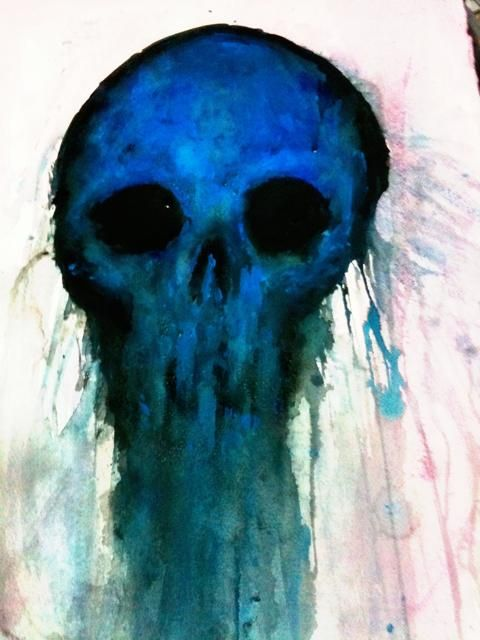 Skull 112 © Marilyn Manson's paintings