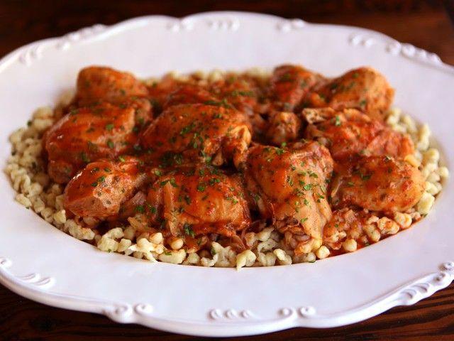 Michael Berkowits' Kosher Chicken Paprikash Recipe