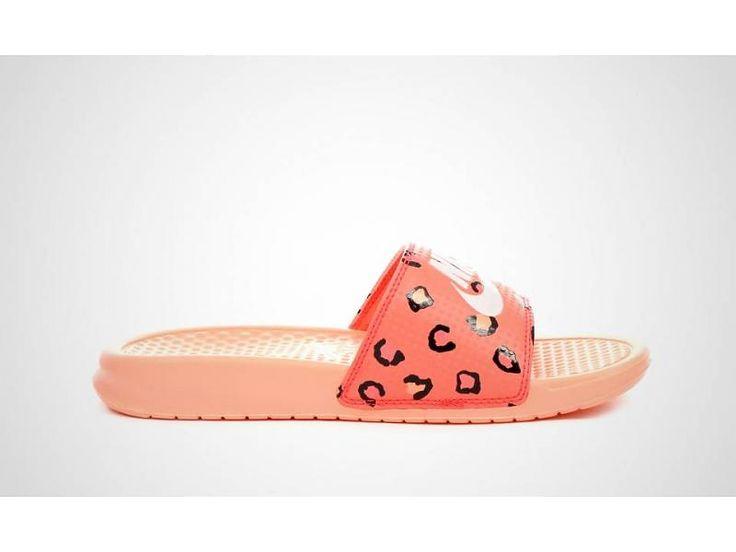 Nike Benassi JDI Print Bright Crimson Women Slippers Dames