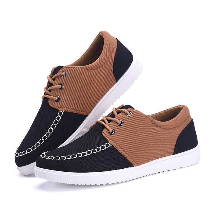 2016 men shoe canvas shoes spring new splice mens fashion casual chaussure  schoenen man lace up