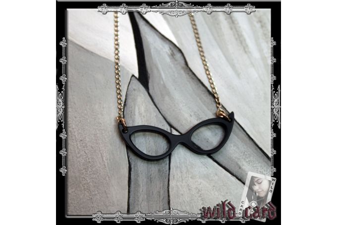 Retro Glasses Necklace by Wild Card Online Boutique