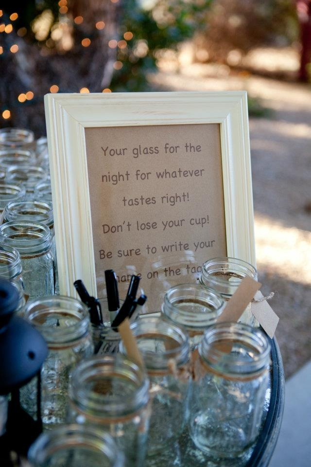 Have to love low budget weddings and Macen Jars.
