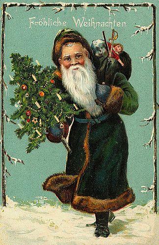 Vintage Christmas/Santa Claus Postcard by Suzee Que, via Flickr #bemorefestive @Marisa Rouzic Pennington Foster
