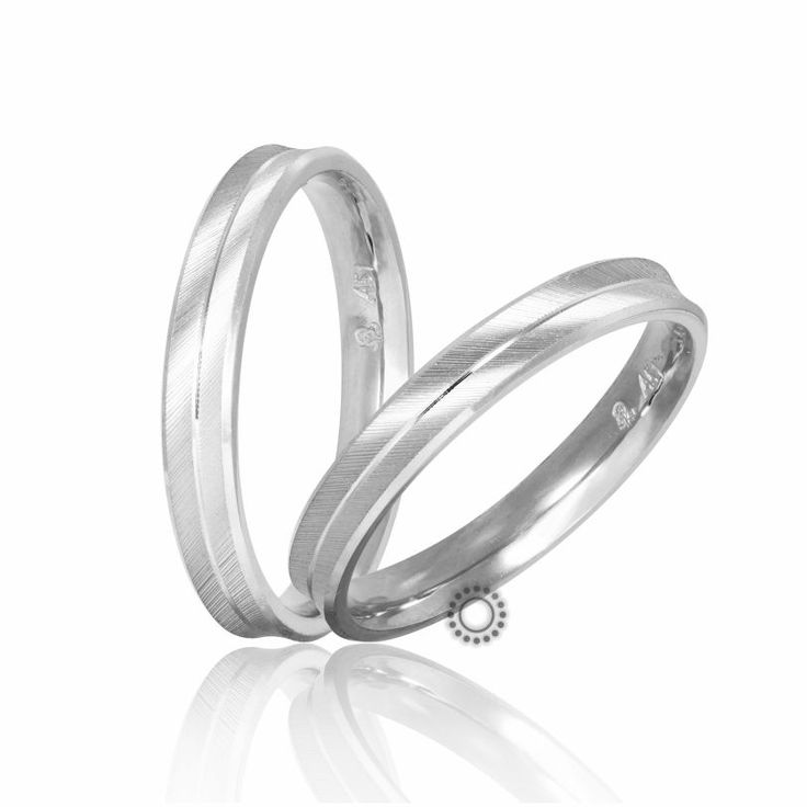 Βέρες γάμου Στεργιάδης S-1-W | Ιδιαίτερες ανατομικές λεπτές λευκόχρυσες βέρες καμπυλωτές προς τα μέσα σε διαμανταρισμένο ματ φινίρισμα | ΤΣΑΛΔΑΡΗΣ Χαλάνδρι #βέρες #βερες #γάμου