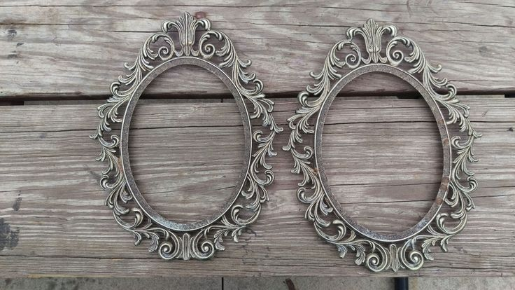 Vintage Ornate Brass Oval Picture Frames 9 x 7 Photo by DishMeUpVintage1602 on Etsy