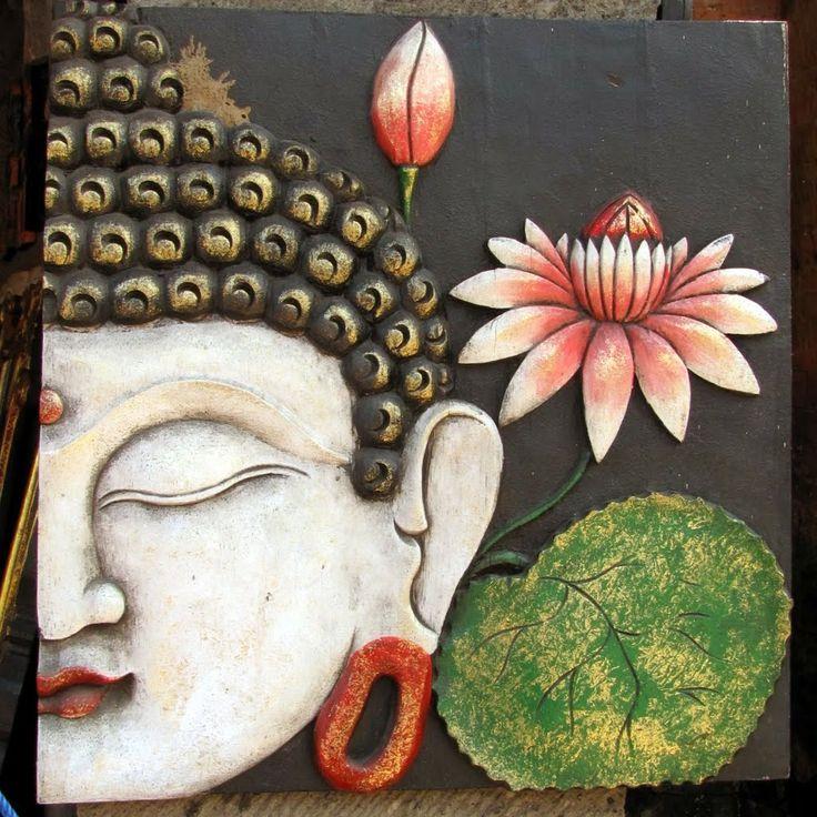 Bali Buddha and Lotus art in Peliatan, Ubud.