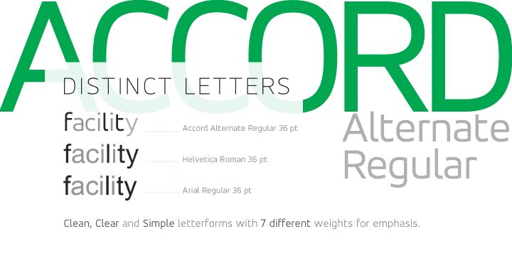 Accord Alternate Font Poster