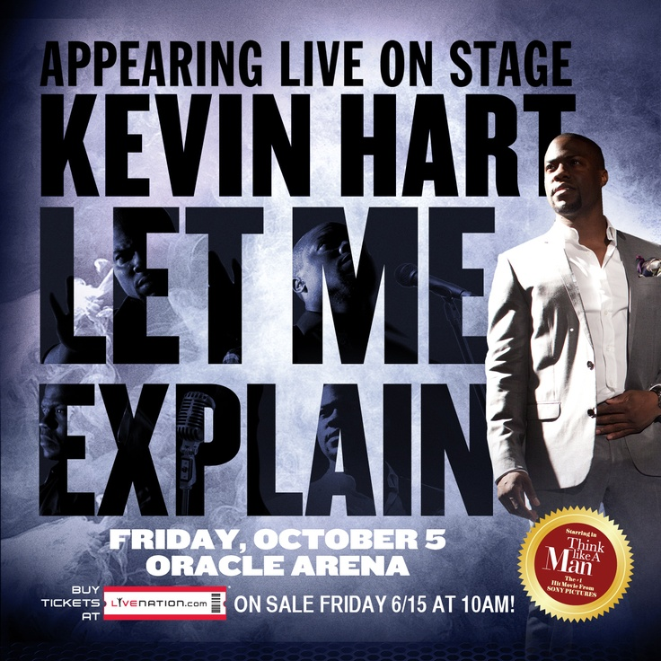 Tickets for Kevin Hart at Oracle Arena on 10/5 on sale now! Get yours at LiveNation.com