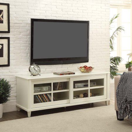 Convenience Concepts French Country 60 inch TV Entertainment Center, White